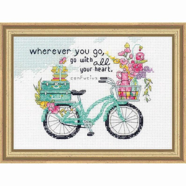 Wherever You Go Cross Stitch Kit By Dimensions