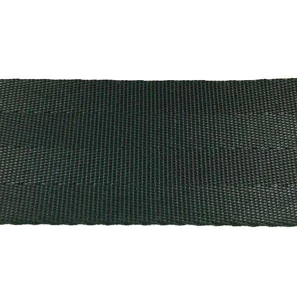 "4 Panel Black Seat Belt Webbing Nylon (1 1/2"") 913N 1.5 BK"