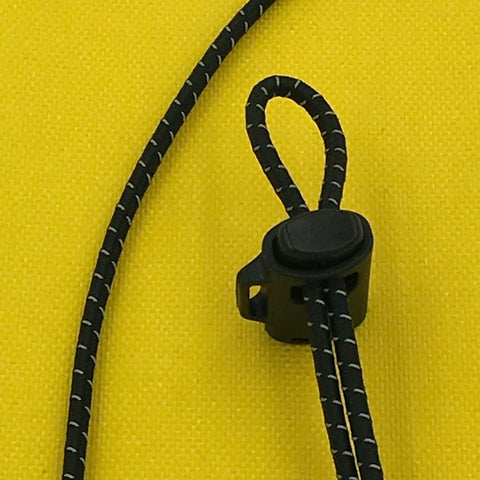 "Shock Cord with Reflective (1/8"") C510 BK REF"