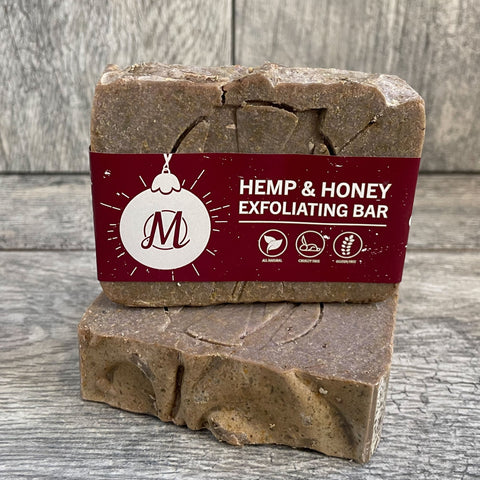 Honey Hemp Exfoliating Bar