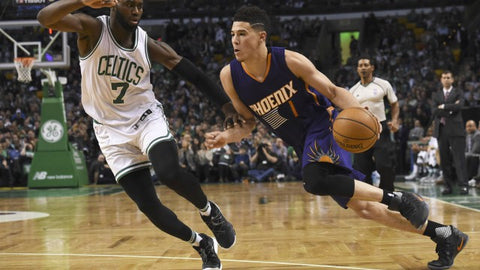 new product be2df 7493c Devin Booker's Shot At History