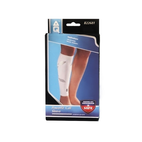 AQ Powerfit Calf Sleeve- White | Toby's Sports