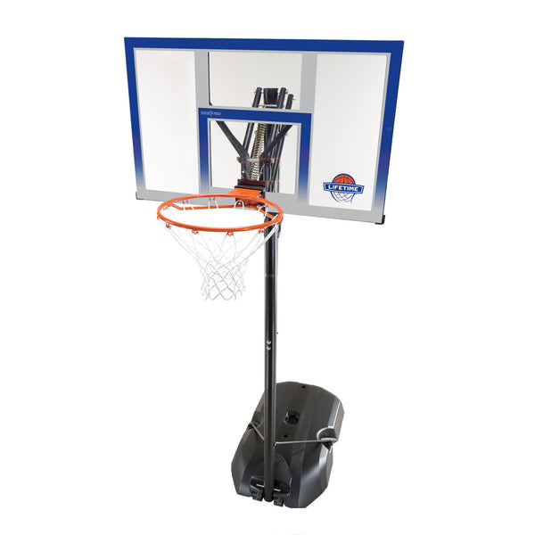 "Buy the Lifetime Shatter Proof 48"" Basketball Set at Toby's Sports!"