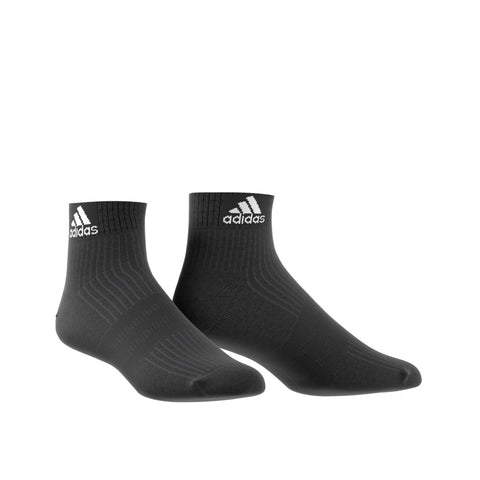 adidas 3 Stripe Half Cushioned Performance Ankle Socks | Toby's Sports