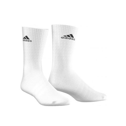 adidas 3 Stripe Half Cushioned Performance Crew Socks-1 Pair | Toby's Sports