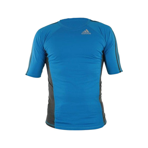 adidas Combat Men's MMA Training Rash Guard-Blue