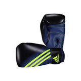 adidas Combat Speed 100 Boxing Gloves- Black/Blue/Green