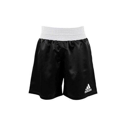 adidas Combat Multi Boxing Shorts-Black/White