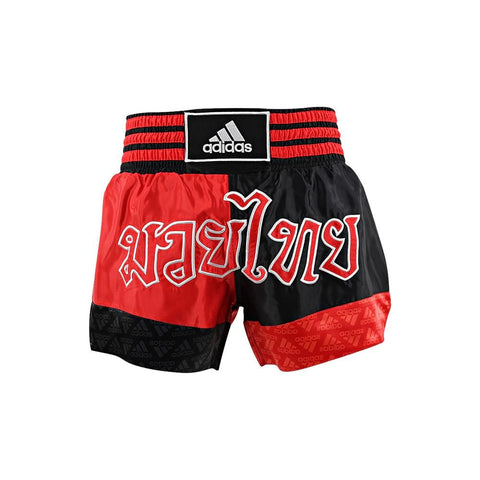adidas Combat Thai Boxing Shorts-Black/Red