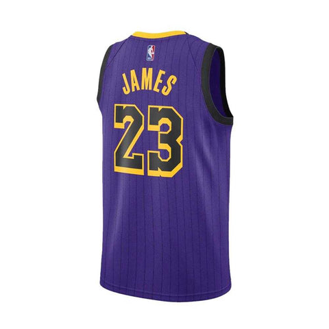 Nike Los Angeles Lakers City Edition Swingman Jersey 18- Lebron James