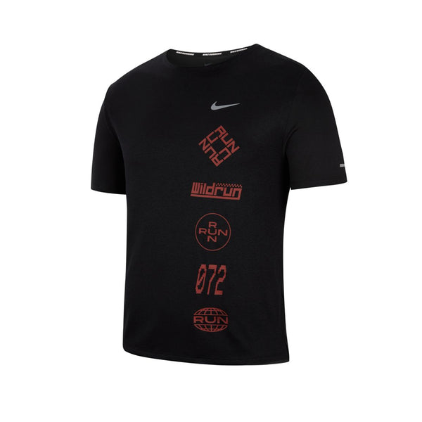 Nike Men's Dri-FIT Miler Wild Run Graphic Running Top