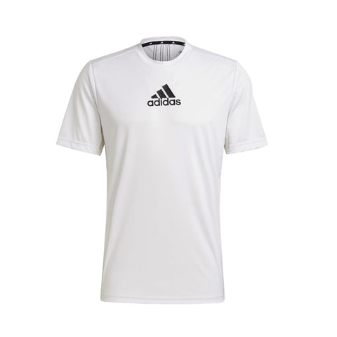 ADIDAS MEN'S PRIMEBLUE DESIGNED TO MOVE SPORT 3-STRIPES TEE