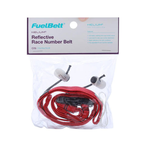 Fuelbelt Reflective Race Number Helium Belt