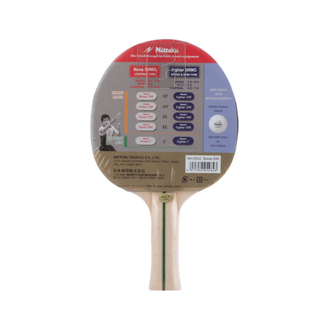 Nittaku Table Tennis Brave FL200 Bat