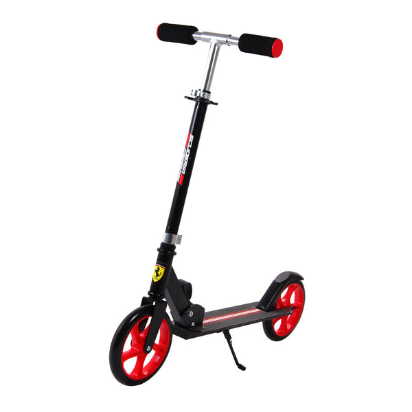 Buy the Ferrari Adult Big Wheel Scooter-Black at Toby's Sports!