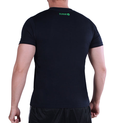 RUNNR Run A Little Further Men's Navy Blue Shirt