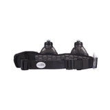 Buy the FuelBelt Helium H20 2-Bottle Belt-Black at Toby's Sports!