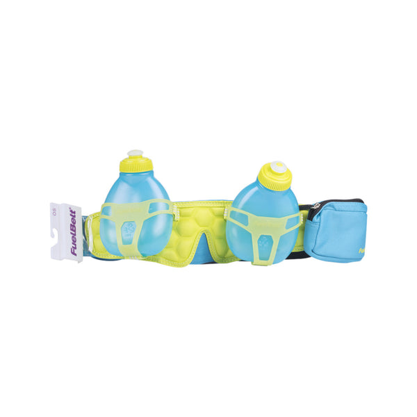 Buy the FuelBelt Helium H20 2-Bottle Belt 428103 at Toby's Sports!