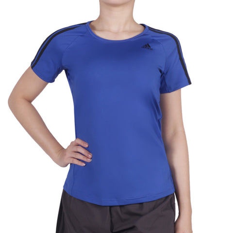 Buy the adidas Women's Basic 3 Stripes Performance Tee-AY7825 at Toby's Sports
