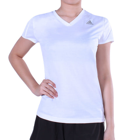 Buy the adidas Response V-Neck Women's Tee-B43370 at Toby's Sports!