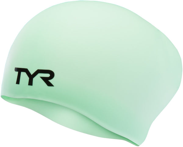 TYR Longhair Silicone Swim Cap LCSL-332 Light Green