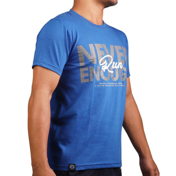 RUNNR Men's Never Enough Blue Shirt