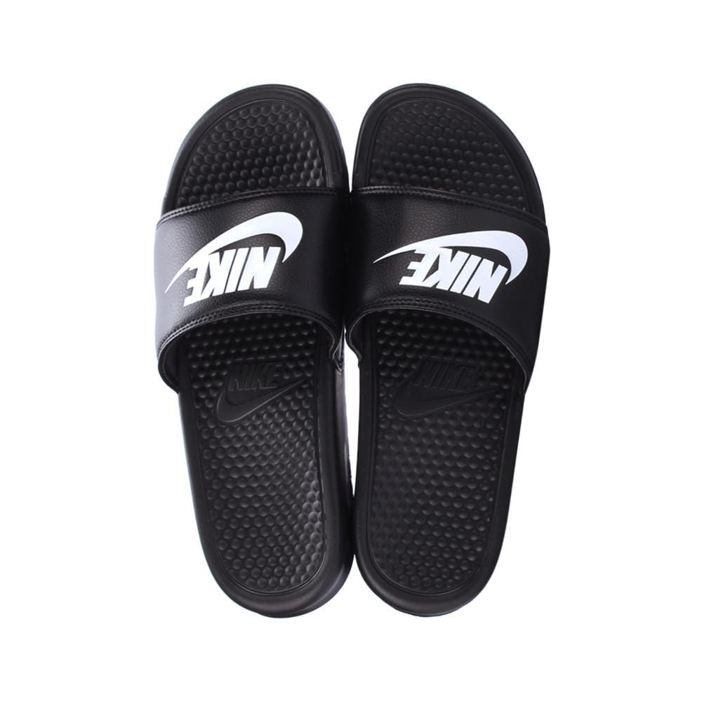 acd6844b217c Nike Benassi Just Do It Black Slides-343880-090