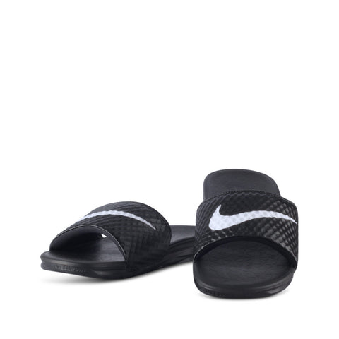 Nike Benassi Solarsoft TB Black and White Slides
