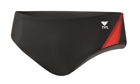 TYR Men's Alliance Splice Racer RALI1A-002 Black/Red | Toby's Sports