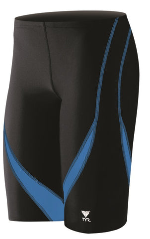 TYR Men's Alliance Splice Jammer SALI1A-093 Black/Blue | Toby's Sports