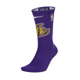 Nike NBA Los Angeles Lakers Elite Crew Socks
