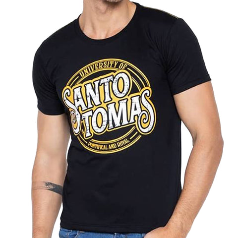 Universidad Men's UST Overlay Casual Black Tee