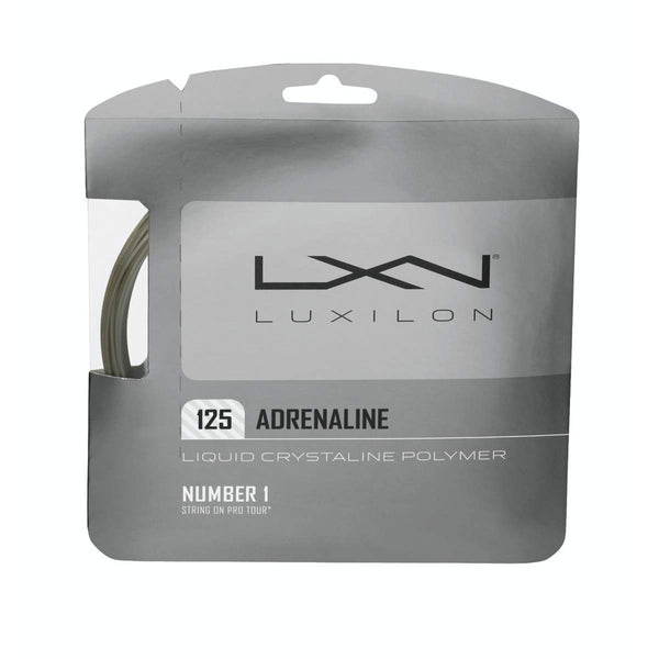 Wilson Luxilion Adrenaline 125 Grey Tennis String | Toby's Sports