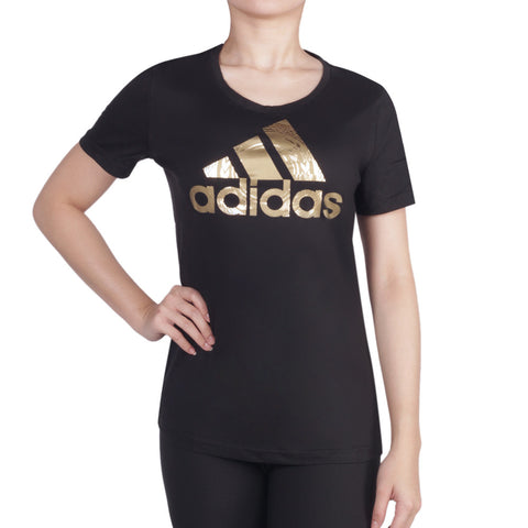 Buy the adidas Women's Foil Logo Graphic Tee-AY5005 at Toby's Sports!