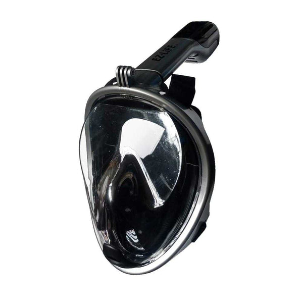 EZ Life Full Face Snorkeling Black Mask