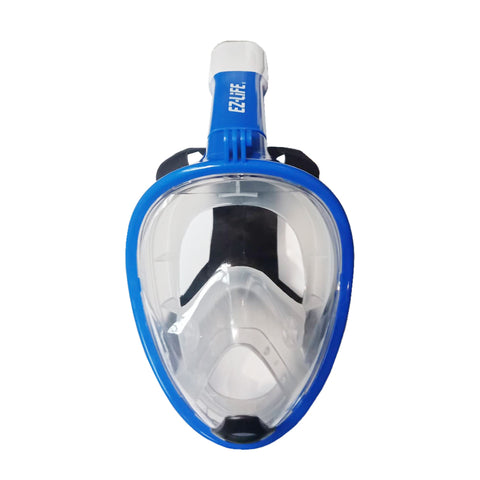 EZ Life Full Face Snorkeling Blue Mask