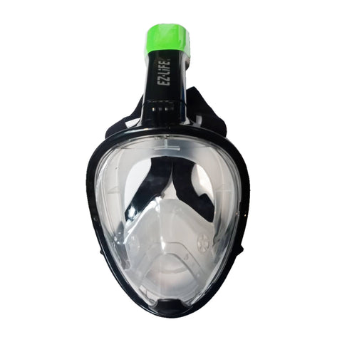EZ Life Full Face Snorkeling Black/Green Mask