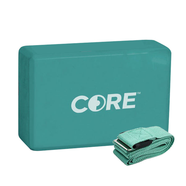 Core Yoga Block and Strap | Toby's Sports