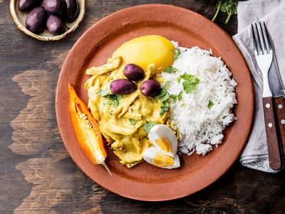 Takeout Kit Peruvian Aji de Gallina Yellow Pepper Chicken Meal Kit