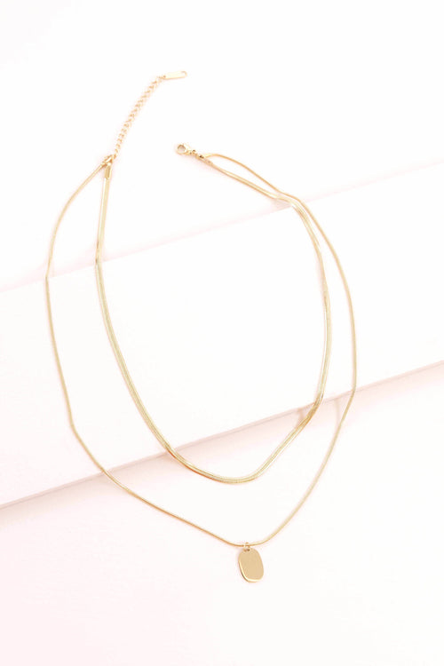 OVAL LAYERED NECKLACE