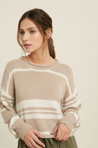 MIRA SWEATER - TAUPE