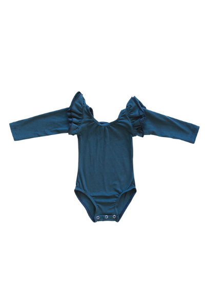 BECK LONG SLEEVE LEOTARD - ROYAL BLUE