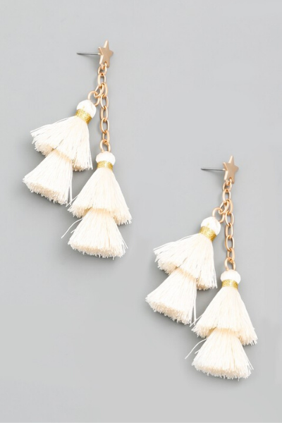 TASSEL CHAIN EARRINGS