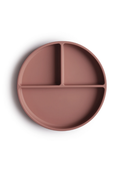 SILICONE SUCTION PLATE - CLOUDY MAUVE