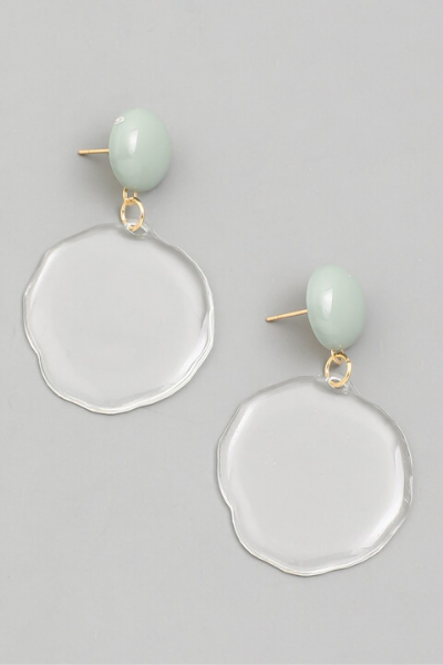 CLEAR CIRCLE EARRINGS