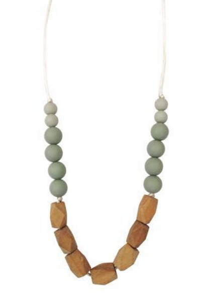 HARRISON TEETHING NECKLACE - SUCCULENT