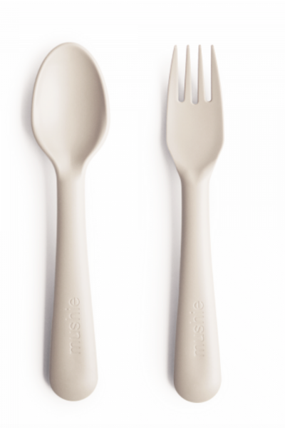 FORK + SPOON SET - IVORY