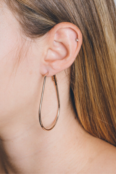 RAINDROP HOOP EARRINGS