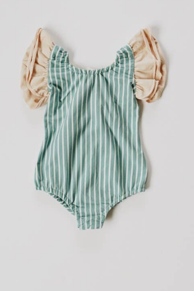 IRIS LEOTARD - OCEAN STRIPE