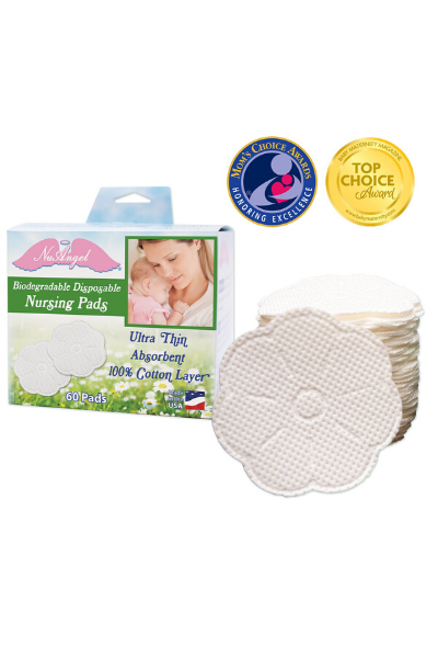 BIODEGRADABLE NURSING PADS, 60 COUNT